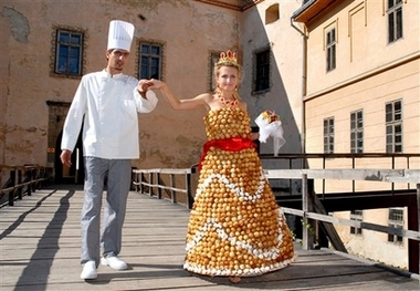 Edible Cream Puff Wedding Dress